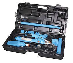 Набір гідроциліндрів і насадок для кузовних робіт з насосом 4 т (пластиковий кейс) (UNITRAUM UN70401S)