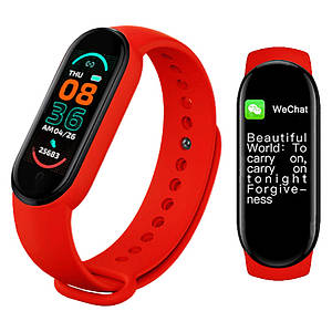 Фітнес браслет трекер Smart band band M6 Розумні спортивні смарт годинник для здоров'я з тонометром крокоміром