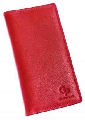 Червоний шкіряний гаманець кордхолдер Grande Pelle м'який глянсовий