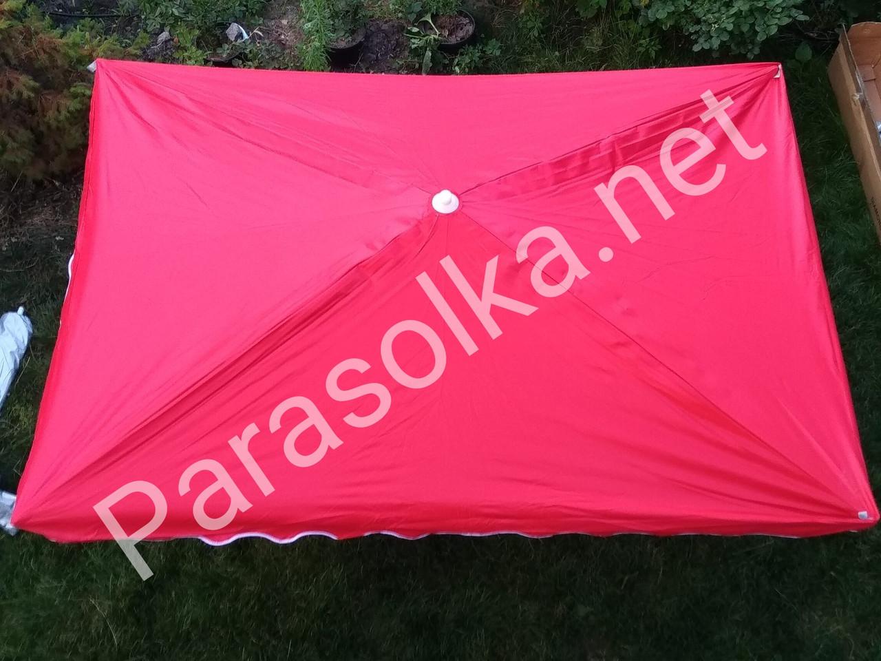 Зонт торговый красный прямоугольный
