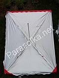 Зонт торговий прямокутний синій з анти-вітровим клапаном, фото 2