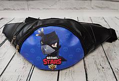 Sars детская сумка бананка на пояс старс Ворон кожзам черный фон