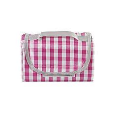 Коврик для пикника и кемпинга складной Shanpeng Njb-001 Розовая Клетка 150*200 см каремат