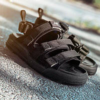 Літні жіночі зручні сандалі New Balance чорні | Модні текстильні повсякденні босоніжки Нью Баланс