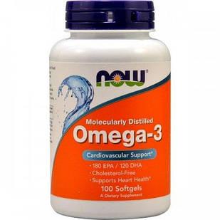 NOW OMEGA 3 (100 капсул) Риб'ячий жир-концентрат у капсулах по 1000мг
