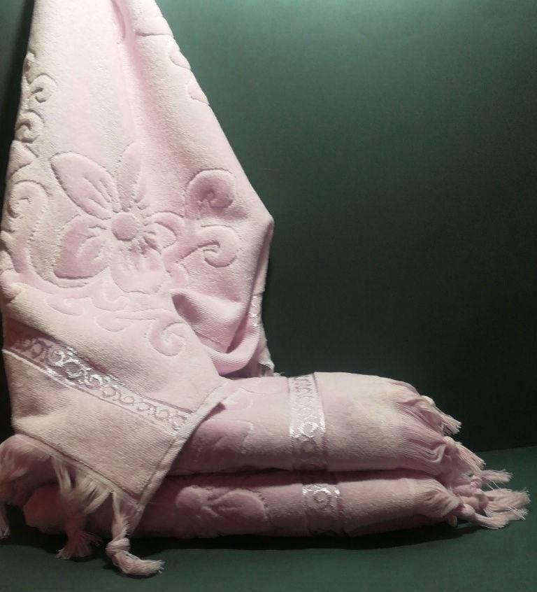 Полотенца для лица, жаккард 50х90 см велюр Турция, 100% Хлопок