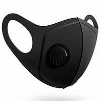 Многоразовая маска Pitta GREEND MASK с клапаном выдоха Черная (HH 500-17)