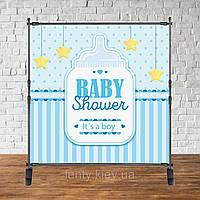 "Баннер 2х2м ""Baby Shower (Беби шауэр/Гендер пати)"" - Фотозона (виниловый) - Бутылочка"