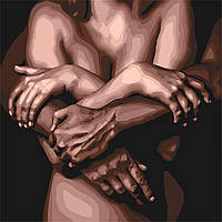 Картина рисование по номерам Идейка Объятия любимого KH4684 40х40 см Романтика, любовь набор для росписи