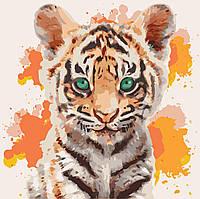 Картина рисование по номерам Идейка Тигрюля KH4070 40х40 см Животные суши, обитатели моря набор для росписи