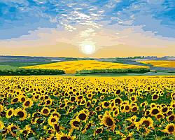 Картина рисование по номерам Идейка Подсолнечный рай KH2282 40х50 см Пейзаж, природа набор для росписи краски,