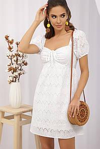 Модное молодежное платье из прошвы 42,44,46,48,50 размер