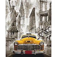 Картина рисование по номерам Идейка Такси Нью-Йорка КН3506 в коробке 40х50см набор для росписи по цифрам