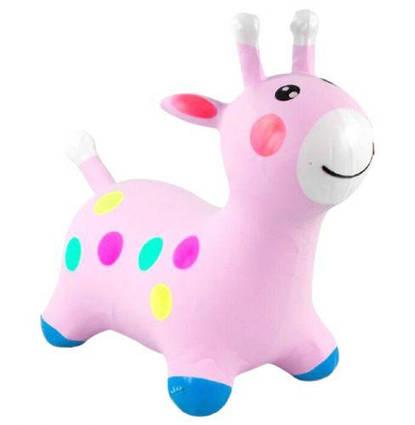 """Прыгун """"Жирафчик"""", розовый C44702"""