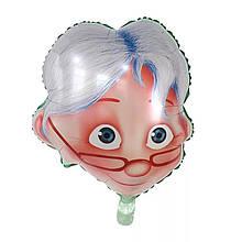 Фольгований повітряна куля голова бабусі 56*51 см