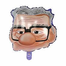 Фольгований повітряна куля голова дідуся 52*52 см