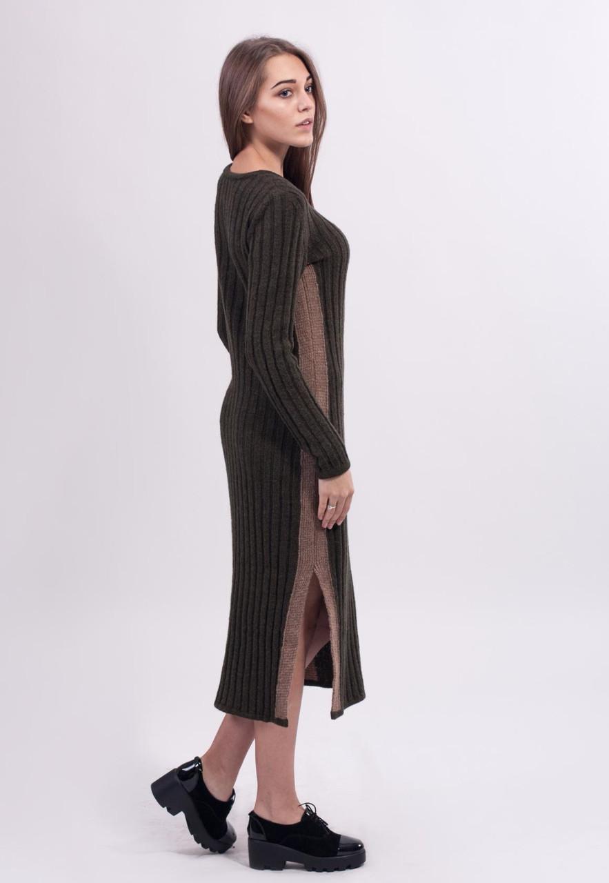 598ff196991 Теплое шерстяное платье с круглым вырезом и длинным рукавом  продажа ...