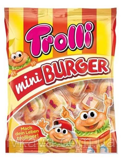 Желейные конфеты Trolli Mini Burger  , 17 шт х 10 гр