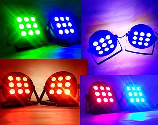 Прожектор дискотечный Led Par 9x12 w RGBW с пультом ДУ