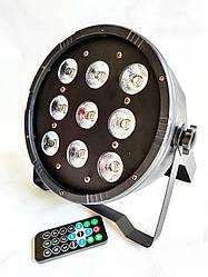 Прожектор светодиодный Led Par 9x12 w RGBW с пультом ДУ