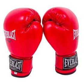 Боксерські рукавички червоні 12oz Everlast DX-380 SKL11-281332