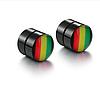 Черные магнитные серьги обманки без прокола с кристаллом СТАЛЬ 316L