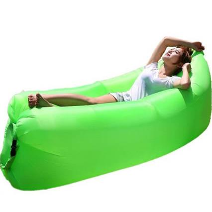 Надувной шезлонг диван мешок Ламзак Lamzac Зеленый, фото 2