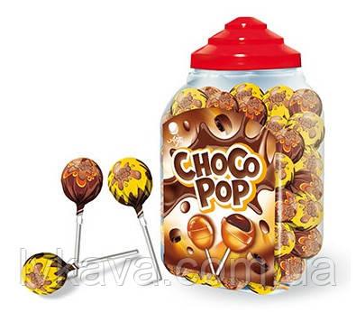 Леденцы на палочке с жевательной резинкой GUM POP Choco Pop  ARGO,18  гр х 100 шт