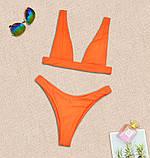 Роздільний купальник бікіні рожевий. Розміри S-XL.Купальник ліф трикутник і стрінги, фото 9