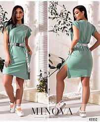 Трикотажное минималистичное платье в спортивном стиле большого размера. Размер: 46-48, 50-52, 54-56, 58-60