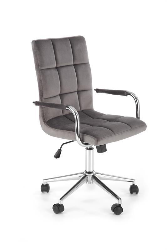 Крісло комп'ютерне GONZO 4 сірий velvet (Halmar)