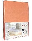 Махровые простыни на резинке натяжные однотонные 180х200 с наволочками двуспальные Разные цвета Турция Evibu, фото 6