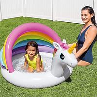 Детский надувной пляжный бассейн  Единорог  Intex 57113