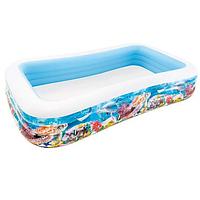 Надувной бассейн прямоугольный 305х183 см  Intex 58485