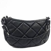 Жіноча сумка квадратами кожзам чорна Арт.1503 (LS) Туреччина