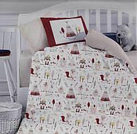 Комплект Детского Постельного Белья Для Новорожденных Хлопок Ранфорс В Кроватку 100*150 см Istanbul Турция