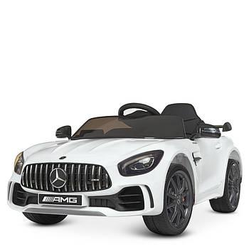 Детский электромобиль Bambi Racer M 4182EBLR-1 Белый мерседес 2 мотора музыка свет сиденье экокожа