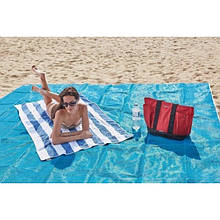 Пляжная подстилка покрывало анти-песок Sand Free Mat для моря и пикника 200x150 см