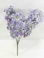 """Фиолетовая""""полынь"""" 30см,искусственный куст с белой присыпкой, фото 1"""