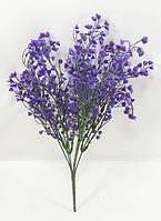 """Фиолетовый куст """"лобелии"""" 37см искусственная зелень для рукоделия, фото 1"""