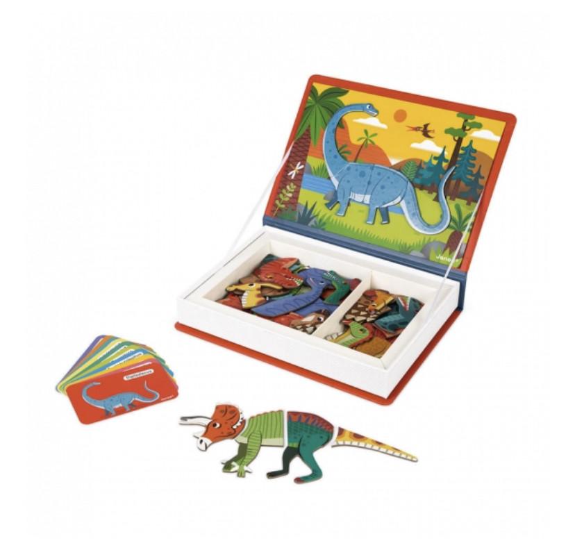 Магнітна книга Janod Динозаври
