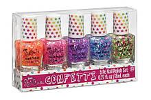 Набір з п'яти лаків для нігтів «Кольорове конфеті»