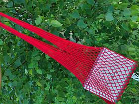 Сумка на плечо - Хлопковая сумка - Авоська - красный