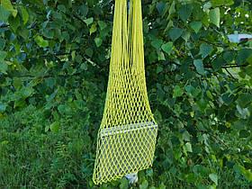 Сумка на плечо - Хлопковая сумка - Авоська - желтый