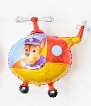 Фольгований повітряна куля вертоліт щенячий патруль 76*48 см