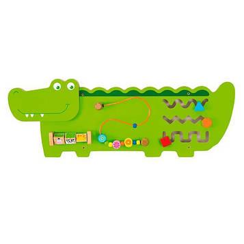 Бизиборд Viga Toys Крокодильчик (50469)