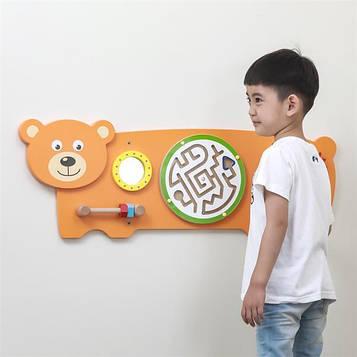 Бизиборд Viga Toys Медвежонок девочкам и мальчикам преддошкольного возраста