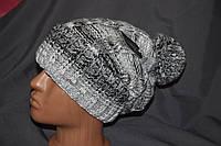 Зимняя женская шапка «ЮТА», полушерсть, двойная вязка