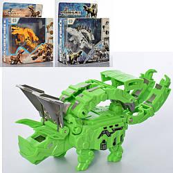 Трансформер TMJ90678-79-80  15см, робот+динозавр+часы,3цв,бат(табл),в кор-ке, 19-23-8,5см