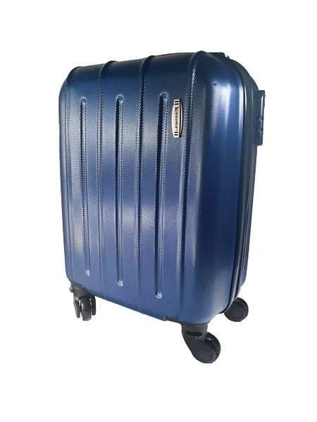 Ручная кладь чемодан на съемных четырех колесах синий